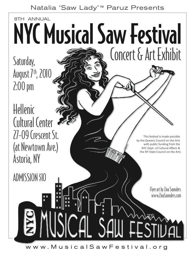 the 8th annual nyc musical saw festival