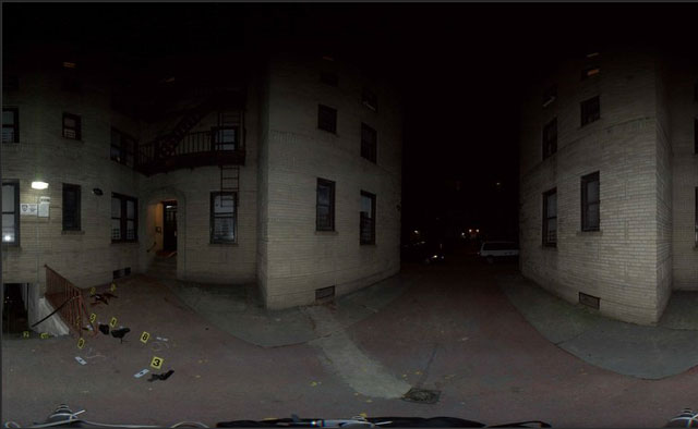 NYPD panoramic crime scene photos