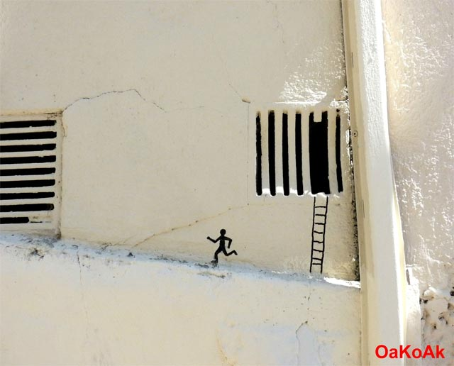 Street art by OakOak