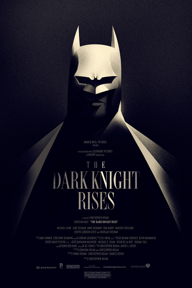 The Dark Night Rises Poster by Olly Moss