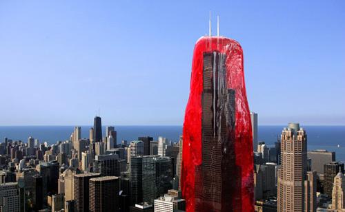 Conceptual Art Terrorists Enclose Sears Tower In Jell-O