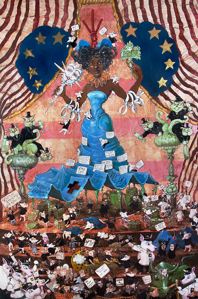Our Lady of Liberty Park by Molly Crabapple