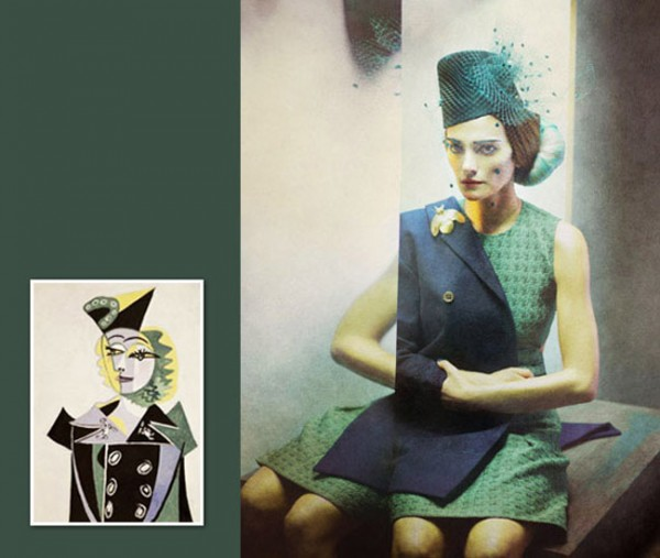 Pablo Picasso inspired fashion photos
