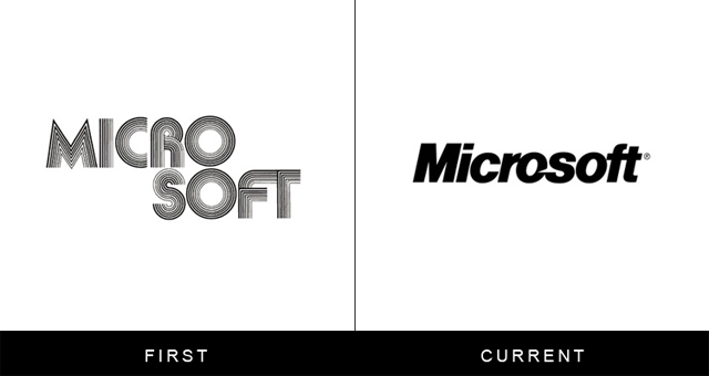 Original and Current Microsoft Logo