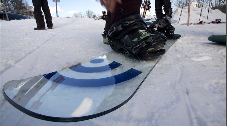 Glass snowboard