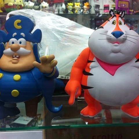 Cap'n Cornstarch & Fat Tony by Ron English