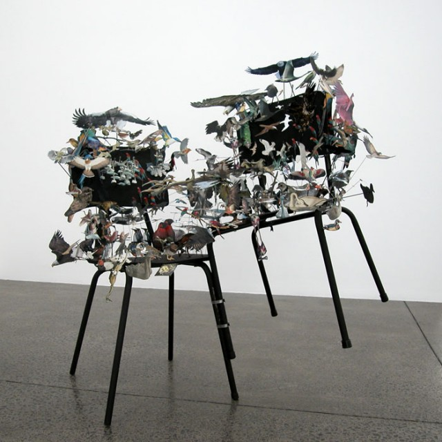Photo Collage Sculptures by Peter Madden
