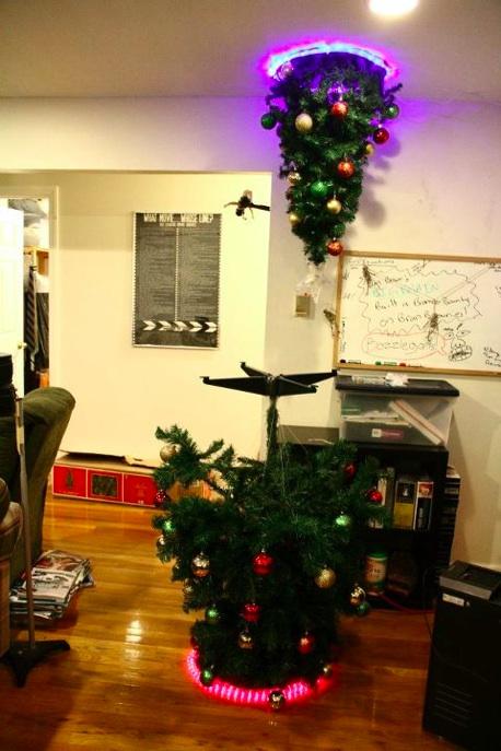 portal themed christmas tree