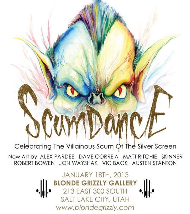 Scumdance poster by Alex Pardee