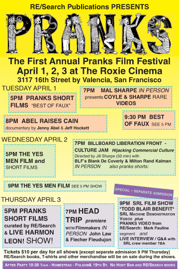 The First Annual Pranks Film Festival