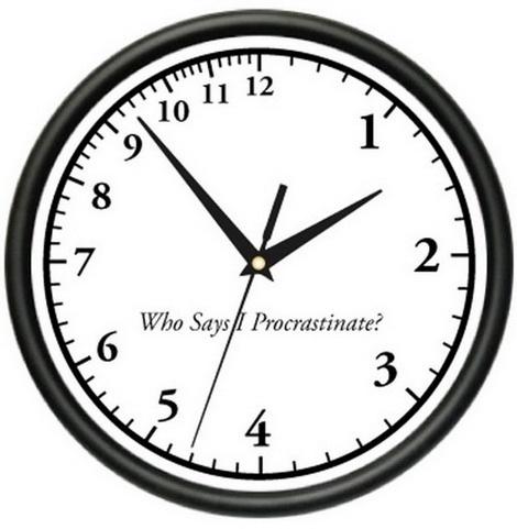 procrastinator-clock