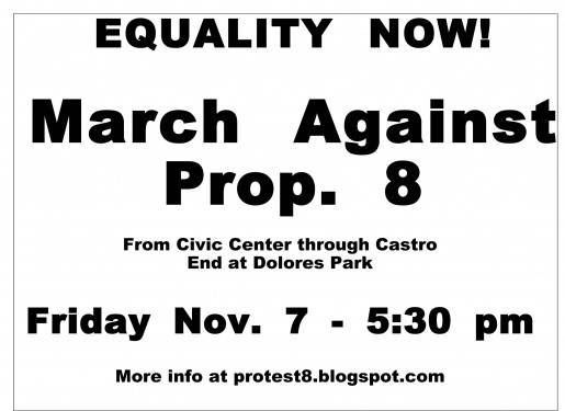 San Francisco Protest March Against Prop. 8