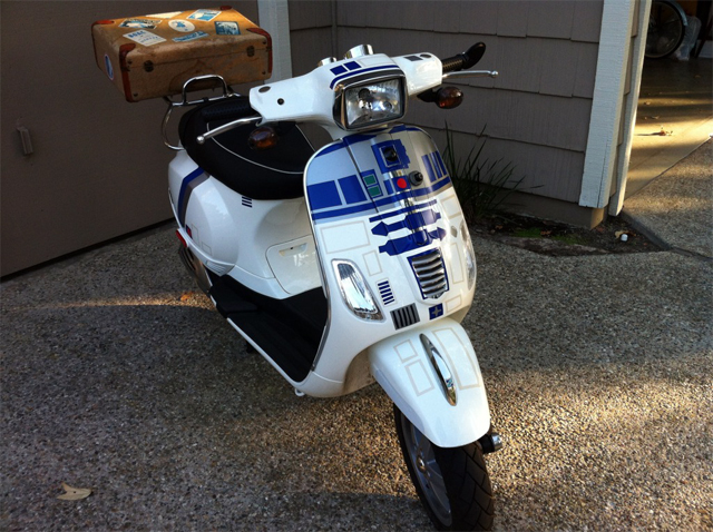 Custom Star Wars R2-D2 Themed Vespa Scooter