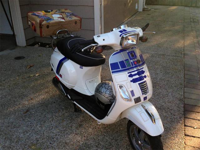 Custom R2-D2 Themed Vespa Scooter by Morgan Senzamici
