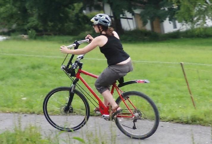 Orgasm riding a bike
