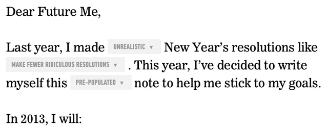 Letter To Yourself An Automatic New Year s Resolution Reminder
