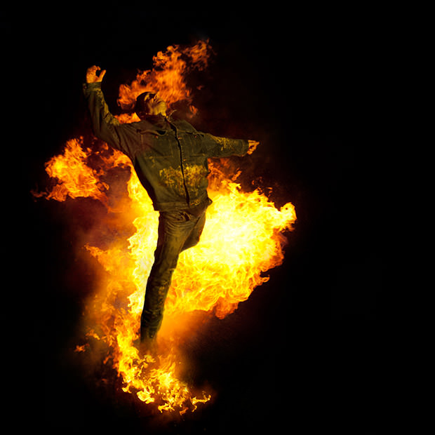 Man on Fire Photo Shoot by Benjamin Von Wong