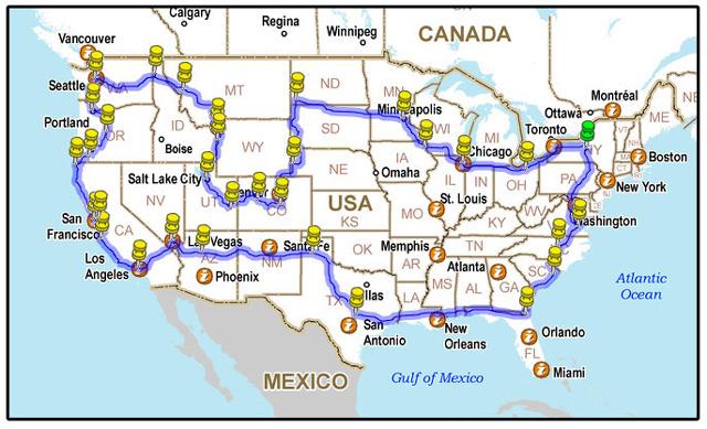trips take united states