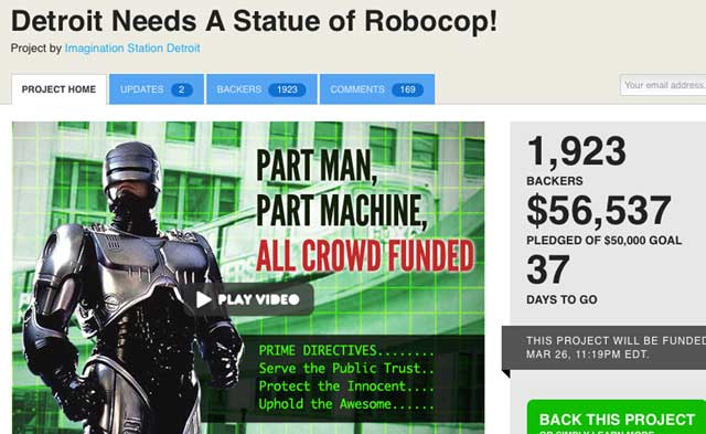 Community Comes Together To Crowd Fund Robocop Statue In Detroit