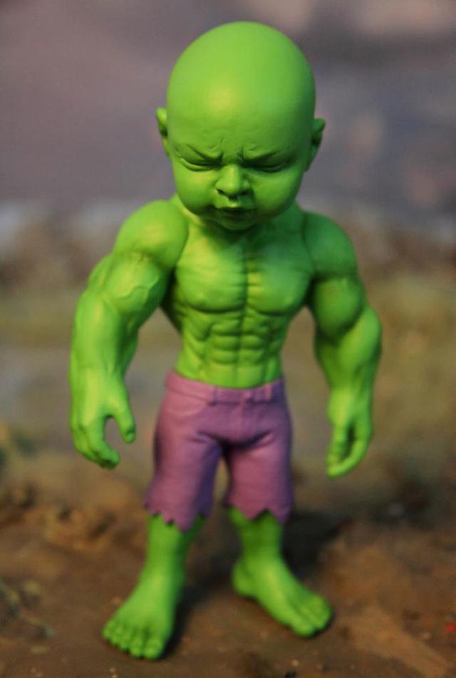 Temper Tot Hulk Reimagined As A Toddler Vinyl Art Toy By