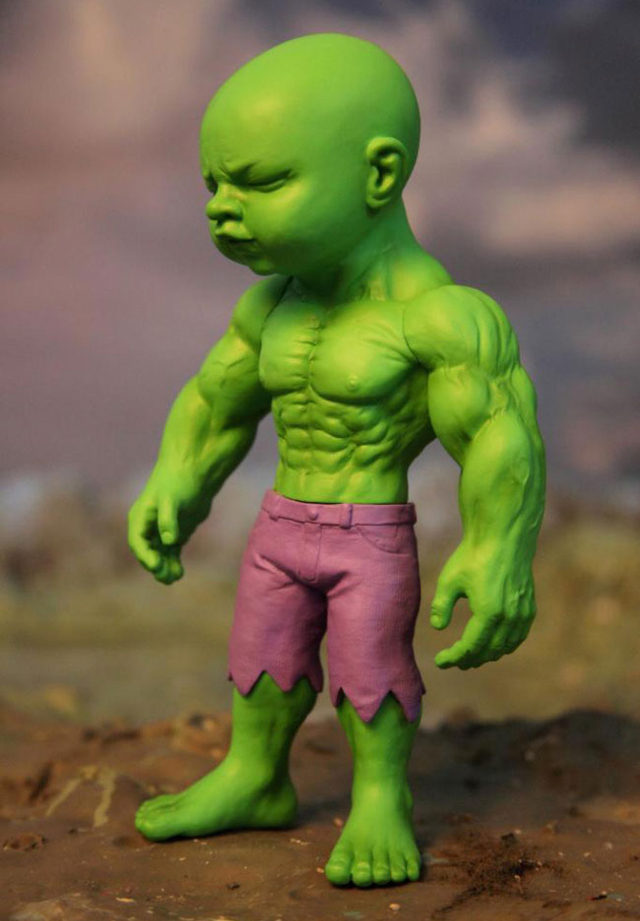 Temper Tot Hulk Reimagined As A Toddler Vinyl Art Toy By