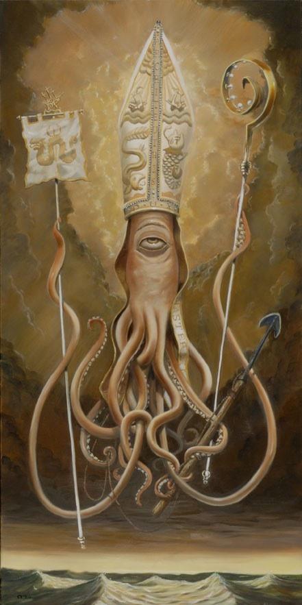 Skot Olsen's Amazing Giant Squid Art at The Shooting Gallery