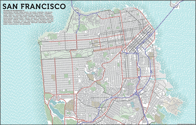 San Francisco Typographic Map