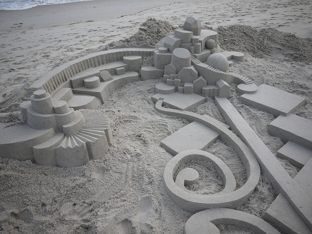 geometric sandcastle