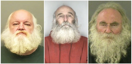 Mug Shots of Santa Claus