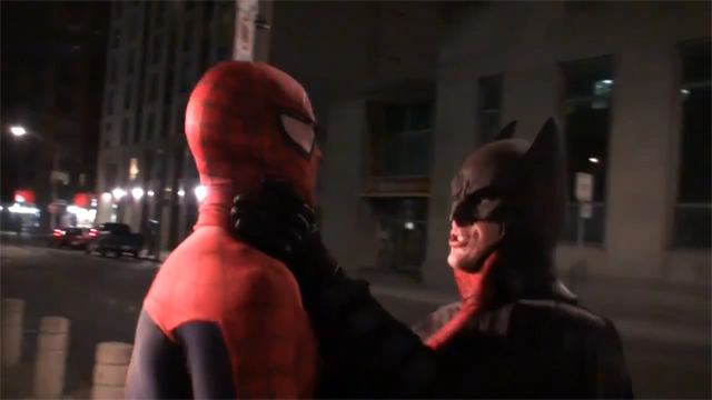 Spider-Man VS Batman in Toronto