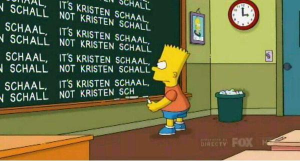 It's Kristen Schaal, Not Kristen Schall