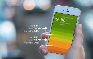Blue weather app by Oak Studios