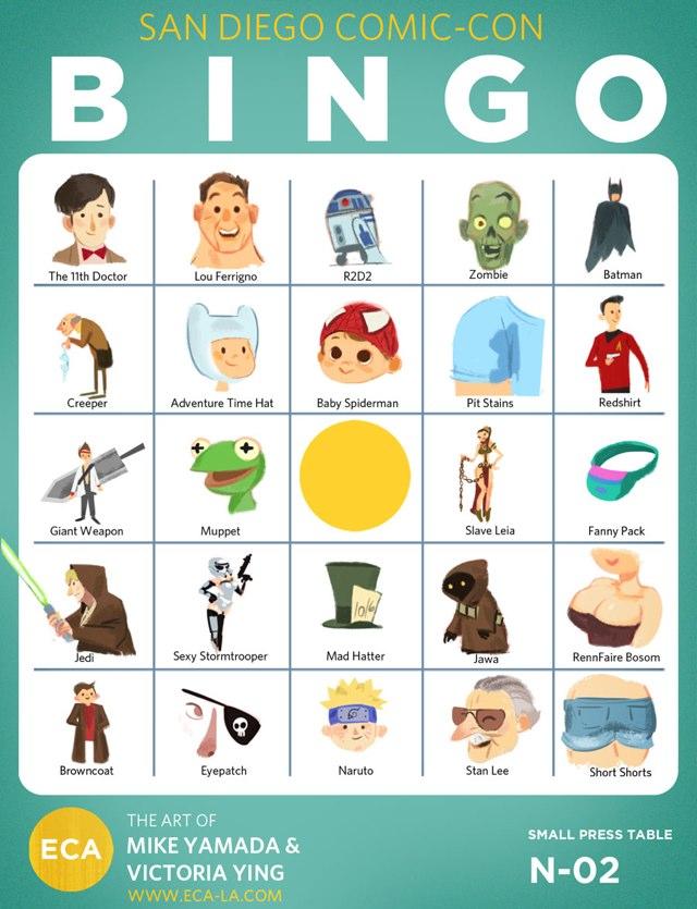 San Diego Comic-Con Bingo