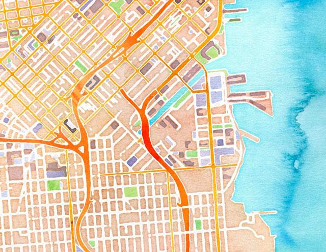 Interactive Watercolor Map by Stamen Design