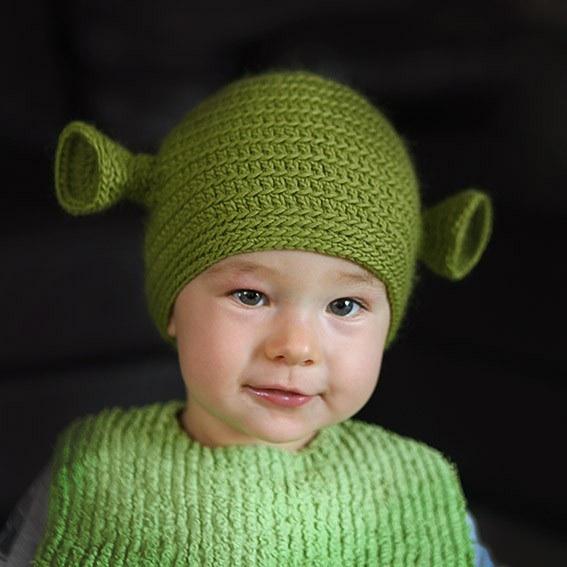 Yoda Shrek Baby Beanies