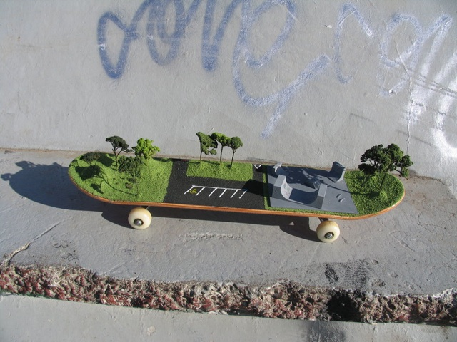 Skatepark on a Skateboard