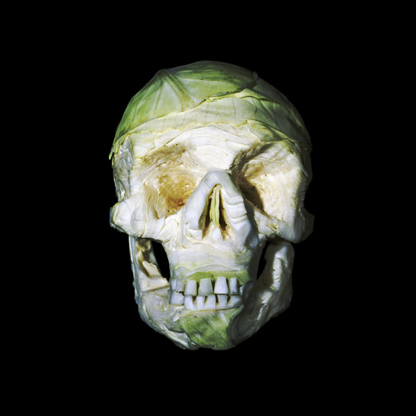 Fruit and vegetable skull sculptures by Dimitri Tsykalov
