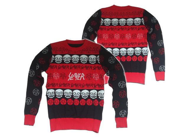 slayer thrash metal christmas holiday sweater - Metal Christmas Sweaters