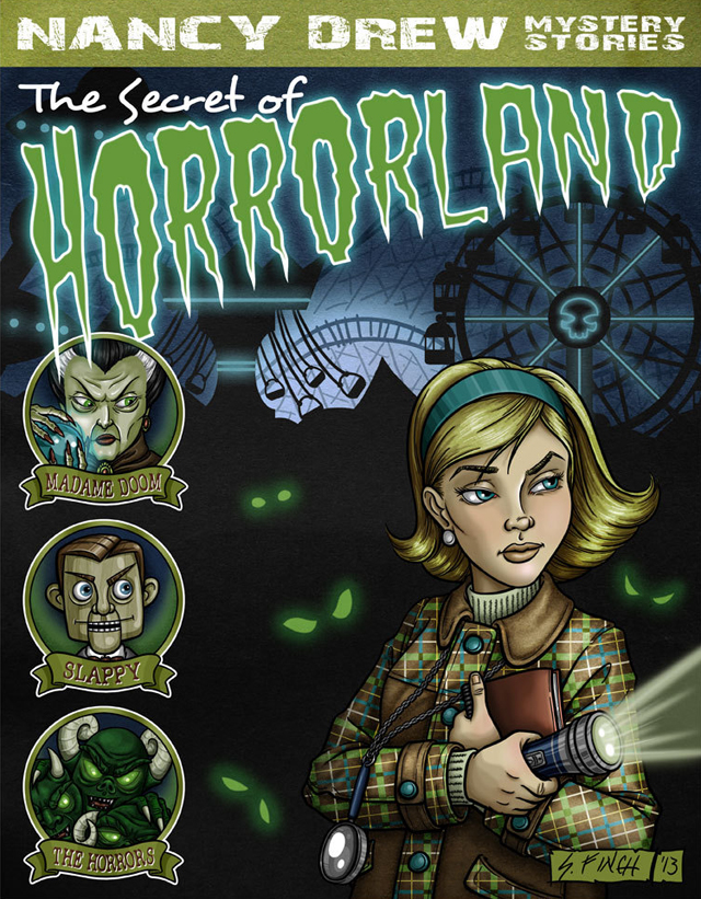 Nancy Drew goes to Horrorland by Shannon Finch