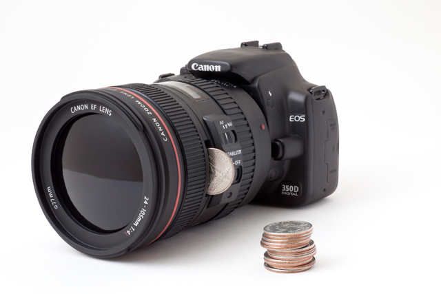 Coin Bank Disguised as a DSLR Camera