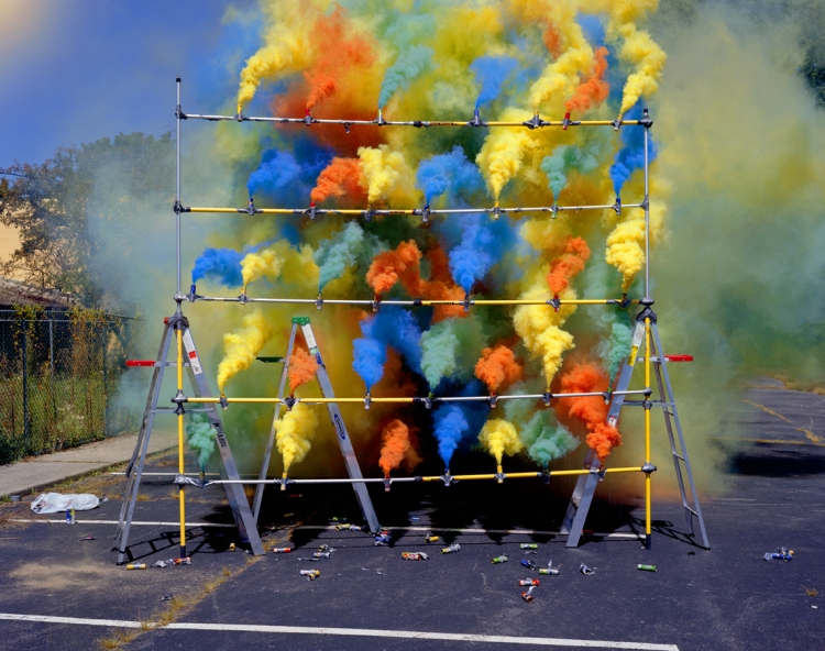 Smoke Bomb Photos by Olaf Breuning