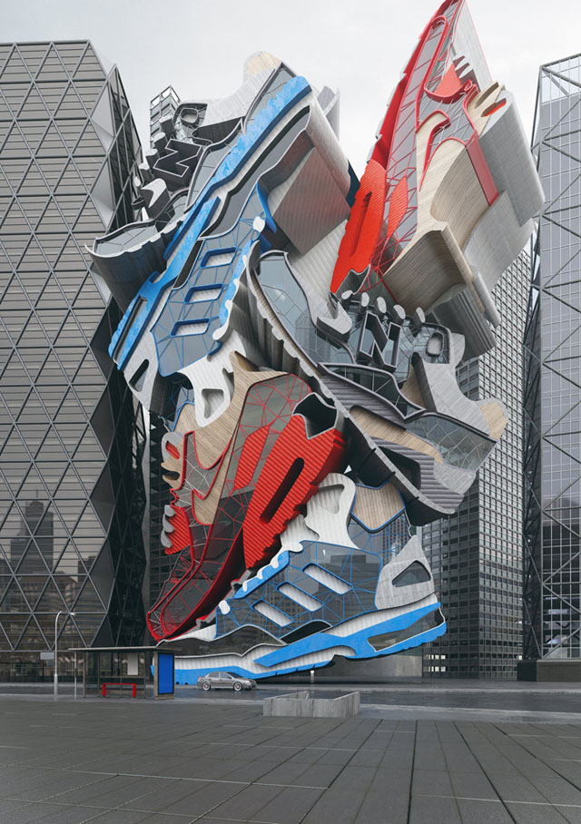 Sneaker Tectonics by Chris Labrooy