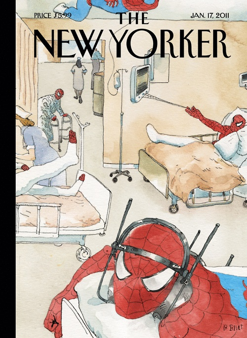 Injured Spider-Men on Cover of The New Yorker