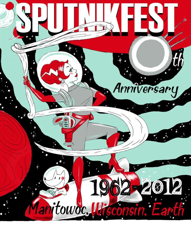 2012 Sputnikfest Poster by Tina Kugler
