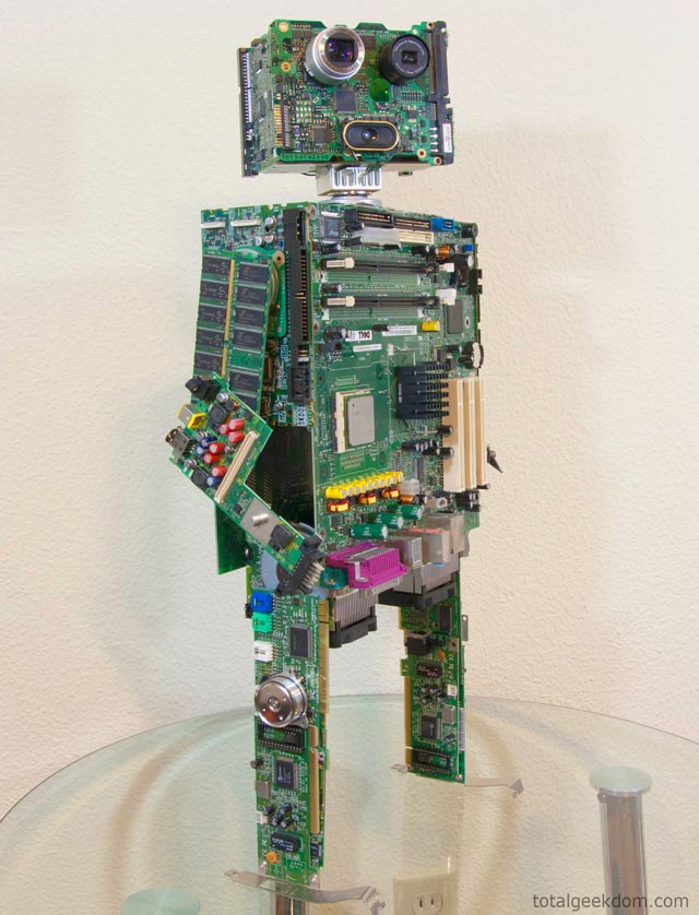 Computer parts robot by Mike Schropp
