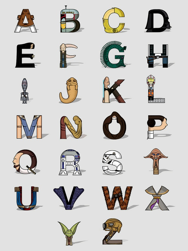 Relativ Star Wars Alphabet OP48