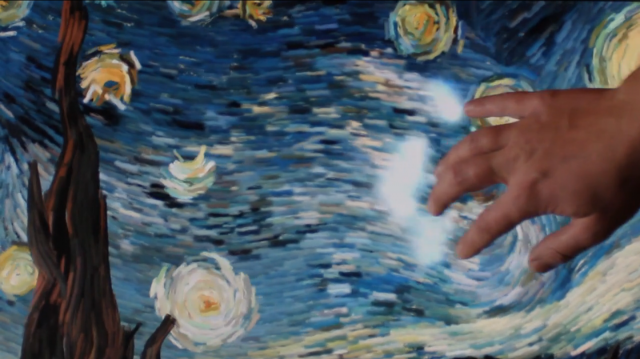 Interactive Animated Starry Night by Petros Vrellis