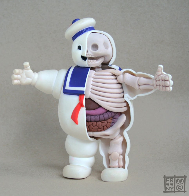 87a73a378b Stay Puft Marshmallow Man Anatomical Sculpture