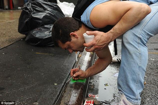 Raffi Stephanian gold prospecting in Manhattan