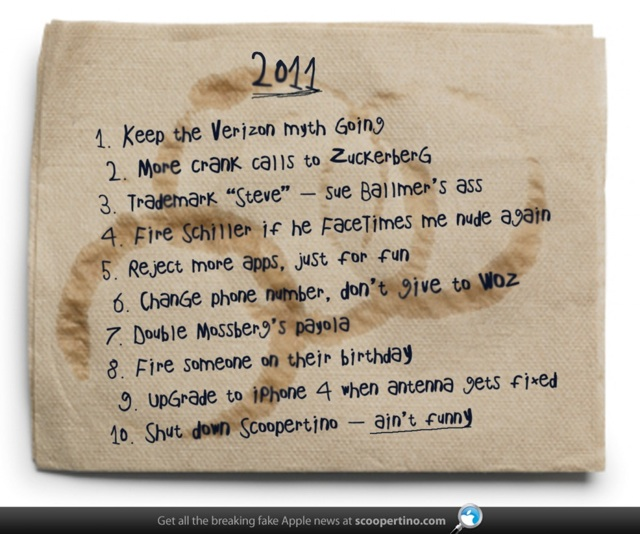 Steve Jobs' 2011 New Year's Resolutions